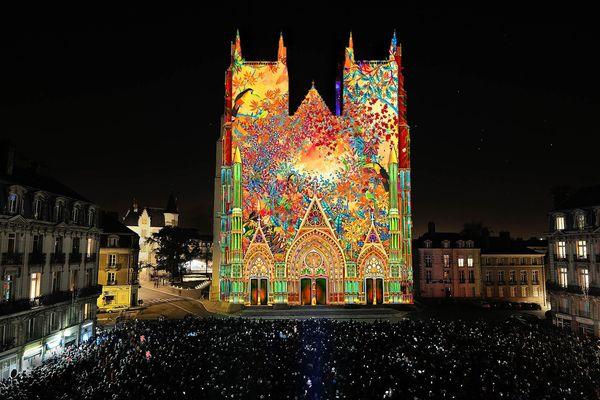 Cathédrale de Nantes illuminée