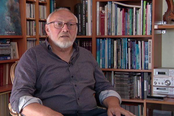 André Hatz, président du collectif Stop Fessenheim, militant anti-nucléaire depuis les années 1975.