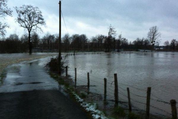 Routes inondées autour de Rennes