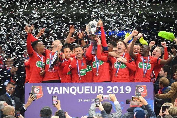 Finale de la coupe de France Stade Rennais / PSG. La victoire du Stade Rennais face au PSG en finale de Coupe de France