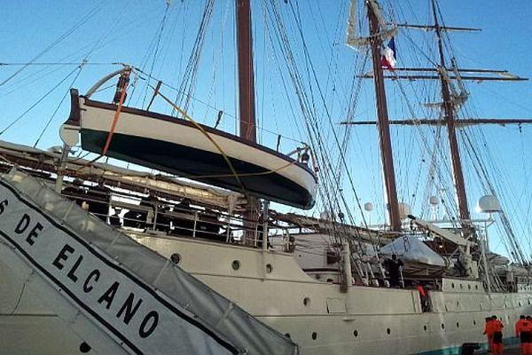 Sète (Hérault) - le voilier espagnol Juan Sebastian de Elcano à quai - 31 janvier 2014