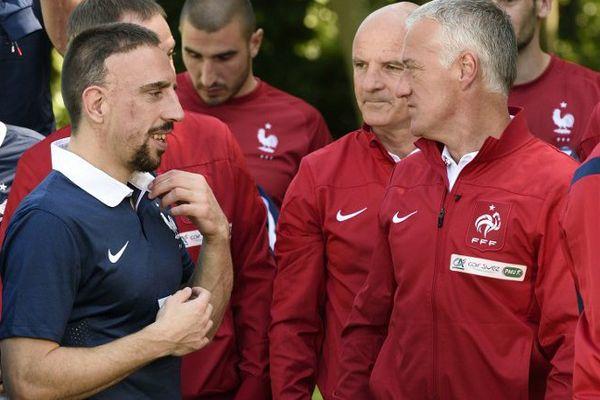 Ribéry en Bleu. C'était en 2014.