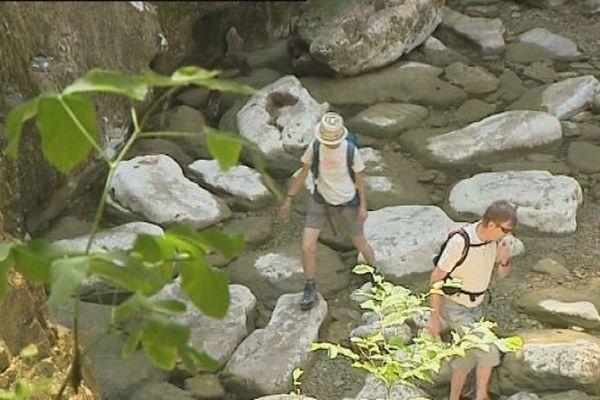 Les cascades du Hérisson, dans le Jura, sont quasiment à sec.