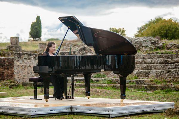 La pianiste Laure Sibella lors de la première édition du Festival Opus Corsica en 2020.