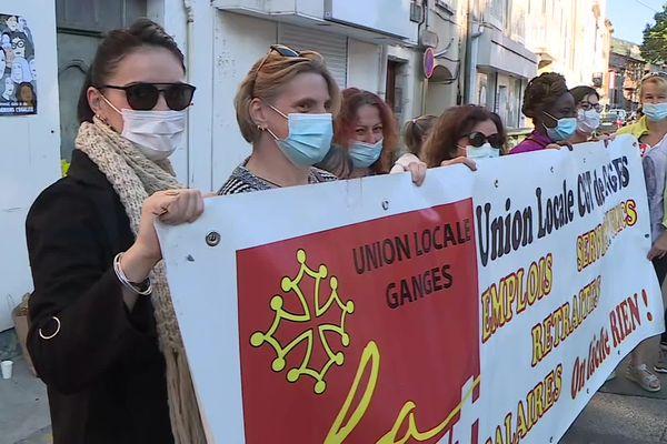 Hérault - Une mobilisation d'aides à domicile a eu lieu à Ganges le jeudi 23 septembre 2021.