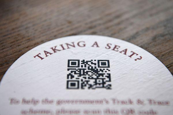 Londres, menu digital au restaurant avec le QR Code