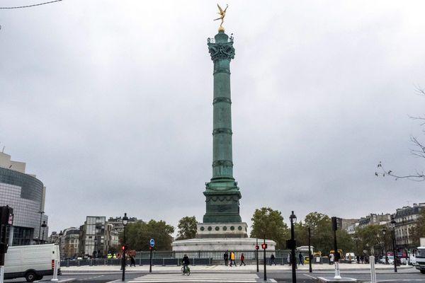Illustration : le chantier de la place de la Bastille