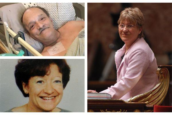 Alain Cocq, Chantal Sébire et Paulette Guinchard, trois combats pour faire évoluer la loi sur la fin de vie en France.