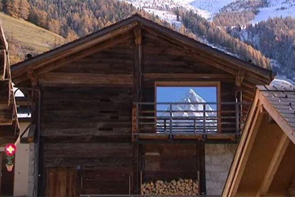 Hameau dans le Valais Suisse