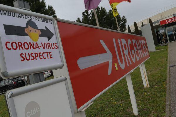 Signalétique du Centre Hospitalier de Valence confronté à l'épidémie du Coronavirus Covid-19 , le 02.03.2020, Drôme