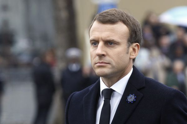 Le chef de l'Etat lors de la commémoration de l'Armistice, l'an passé.