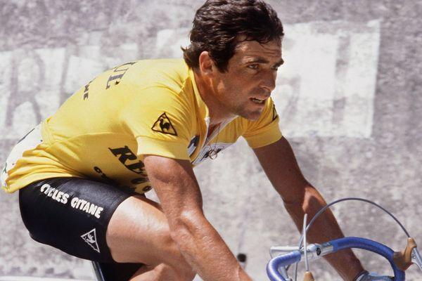 Bernard Hinault entre Bourg d'Oisans et Morzine en 1982