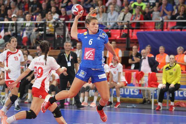 La joueuse de l'ESBF, Chloé Bouquet, lors de sa première sélection nationale face à la Turquie, en septembre dernier.