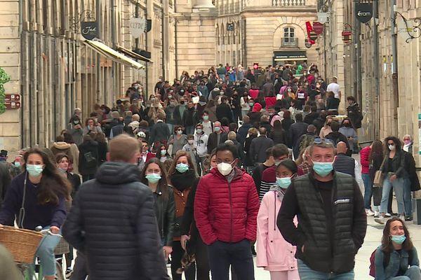 La rue de la Liberté à Dijon, ce samedi 22 mai 2021.