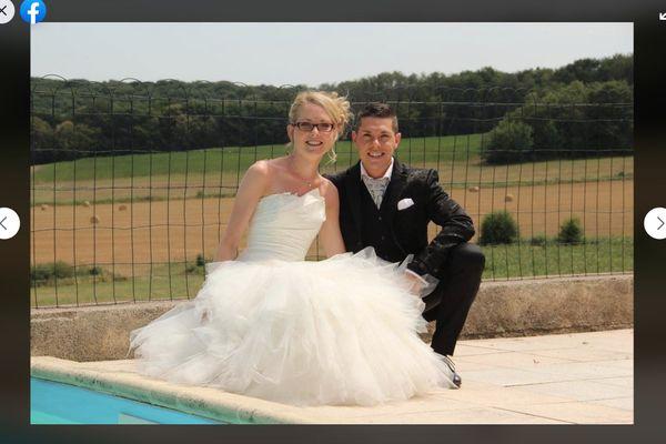 Jonathann Daval et Alexia Daval, le jour de leur mariage.