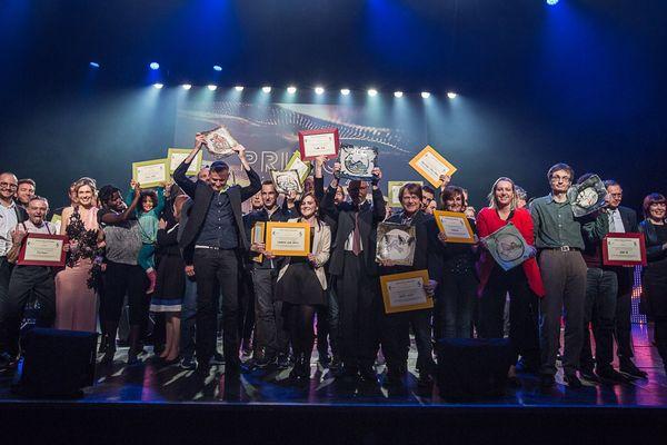 Les lauréats des Prizioù 2016.