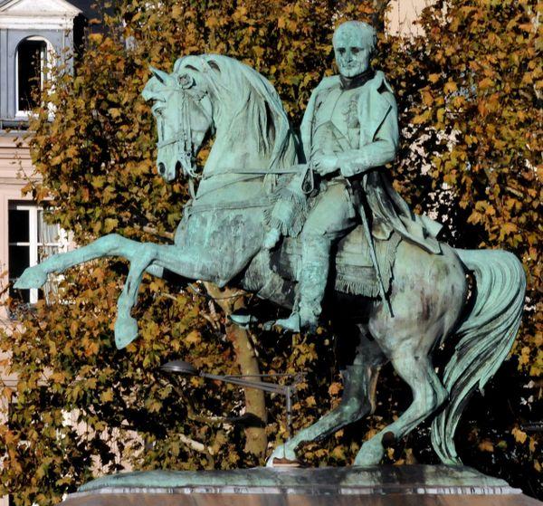 La statue équestre de Napoléon à Rouen (Archives)