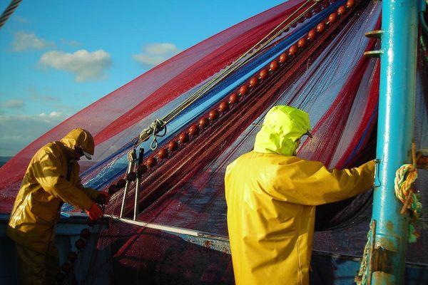 Des pêcheurs en action en baie de Douarnenez
