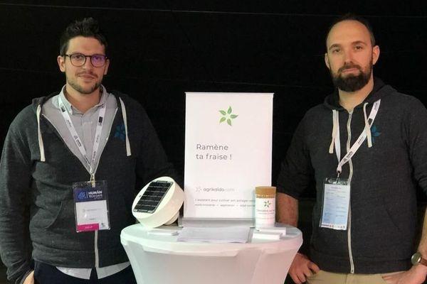 """Maxime Rafaillac et Yoann Lemain, créateurs de l'application """"Agrikaïdo"""""""