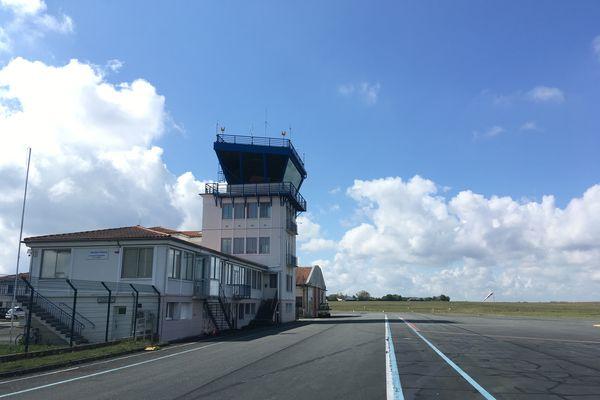 La tour de contrôle de l'aéroport de Poitiers-Biard, jeudi 29 avril 2021.