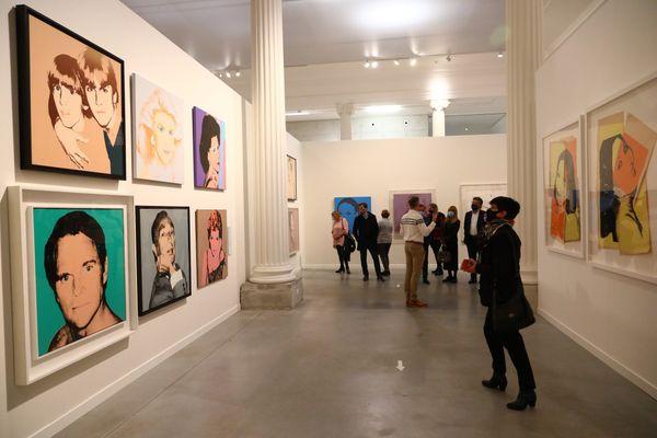 L'exposition Warhol au musée La Boverie à Liège, ouverte au public.