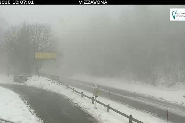 Neige : équipements obligatoires au col de Vizzavona en ce début avril.