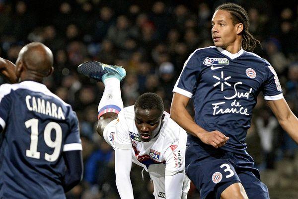 Coupe de la Ligue, 1/8èmes de finale, Montpellier-OL au stade de La Mosson :  Mouctar Diakhaby de l'Olympique Lyonnais