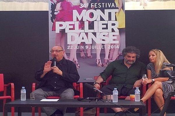Montpellier - conférence de presse de Jean-Paul Montanari, directeur de Montpellier Danse  - 24 juin 2014.