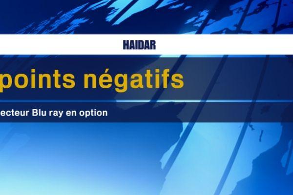 Le point négatif de Haidar