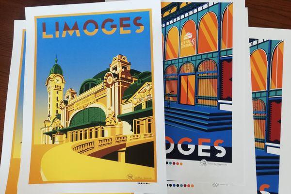 Représentations de la Gare des Bénédictins et des Halles centrales de Limoges par Good bye Hippocrate.