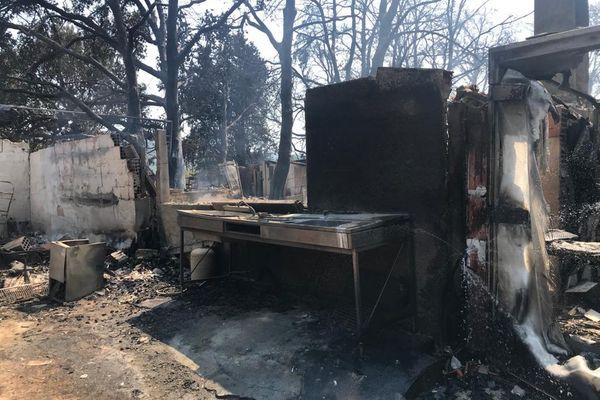 Le ranch de la Mène à Grimaud a été complètement détruit par les flammes.
