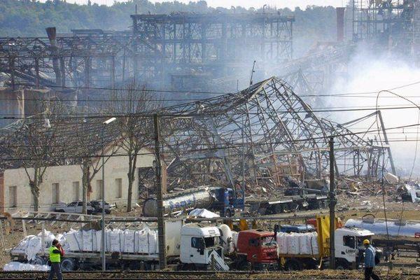 L'explosion de l'usine AZF à Toulouse le 21 septembre 2001