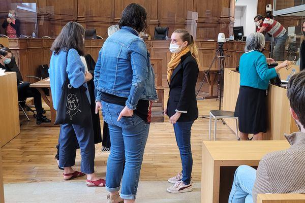 Valérie Bacot avant le deuxième jour de son procès.