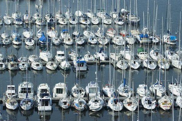 Un port de plaisance en Bretagne