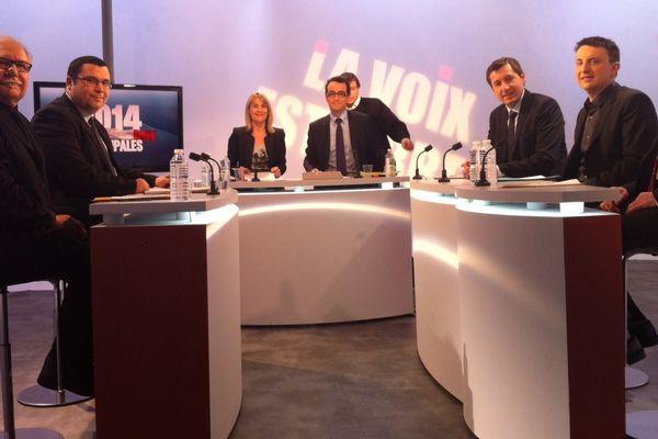 Les cinq candidats à la mairie de Vesoul ont débattu ce samedi 15 février, dans les studios de France 3 Franche-Comté.