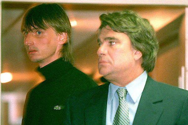 Jacques Glassmann (à gauche) et Bernard Tapie (à droite) en 1995.