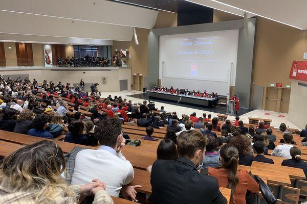 Rentrée solennelle de la faculté de droit de l'université Toulouse 1 Capitole, le 7 octobre 2021.