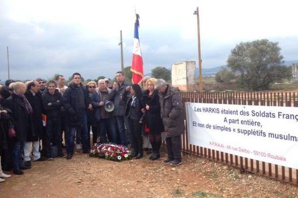 Au mémorial de Rivesaltes, rassemblement le 19 mars 2016.
