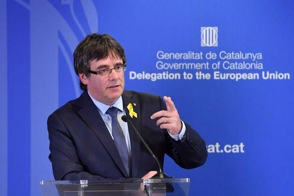 Carles Puigdemont à Bruxelles le 28 juillet 2018.