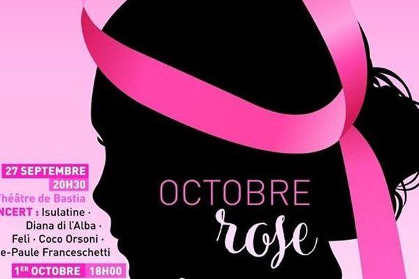 L'affiche d'octobre rose 2019 en Haute-Corse.