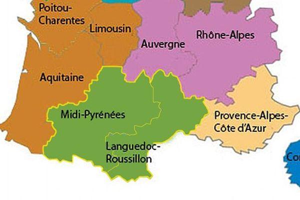 Fusion des régions Midi-Pyrénées et Languedoc-Roussillon le 25 novembre 2014