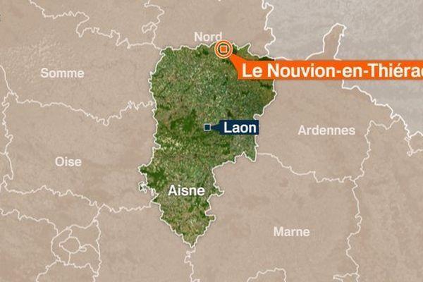 L'accident a eu lieu au Nouvion-en-Thiérache à la frontière entre l'Aisne et le Nord.