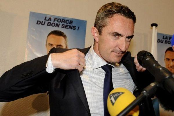 Stéphane Ravier le soir de sa victoire à la mairie du 7e arrondissement de Marseille.