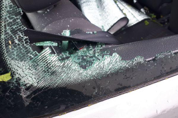 La grêle a causé d'importants dégâts.