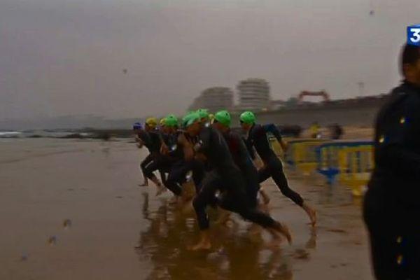 Des conditions météo difficiles pour ce triathlon en Vendée