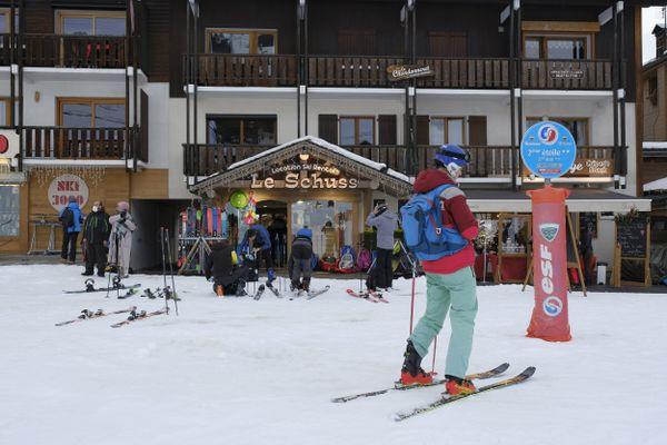 Domaine skiable de La Clusaz, en Haute-Savoie.