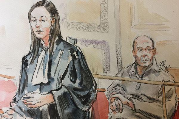 Yacine Mechta lors de son procès
