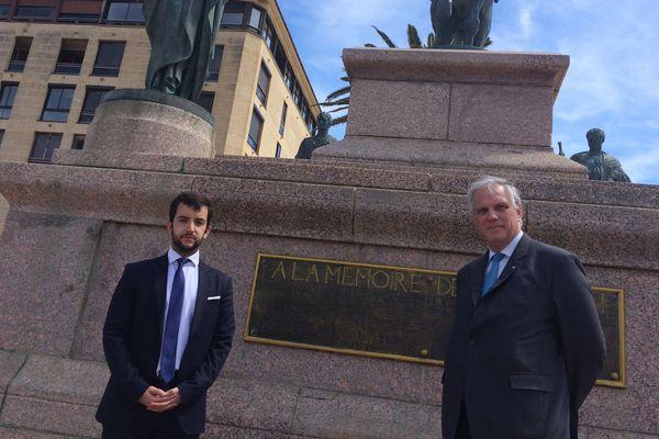 Jean-Philippe Tanguy et BrunoNorthétaient en visite en Corse ce jeudi 16 mai.Ils font partie de la liste « Le courage de défendre les Français »menéepar Nicolas Dupont-Aignan aux prochaines élections européennes.
