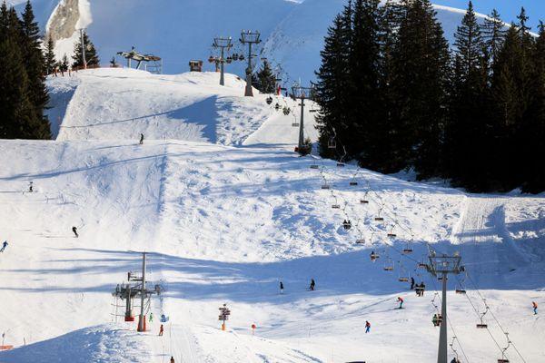 Le domaine skiable du Col de la Croix Fry (Haute-Savoie) le 4 janvier 2020.