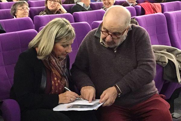 Claude Coret et Serge Moati lors du festival de Luchon en 2018
